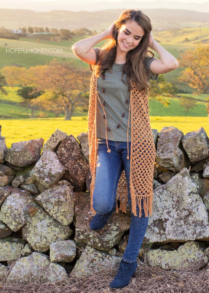 Bohemian Vest Crochet Pattern Free 1