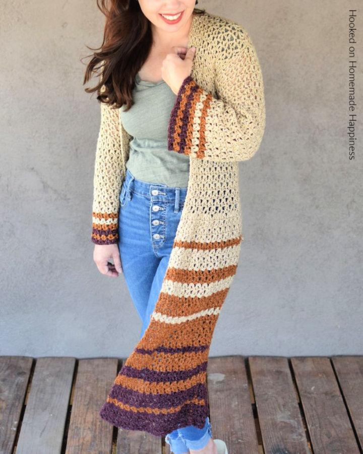 Boho Duster Cardigan Crochet Pattern