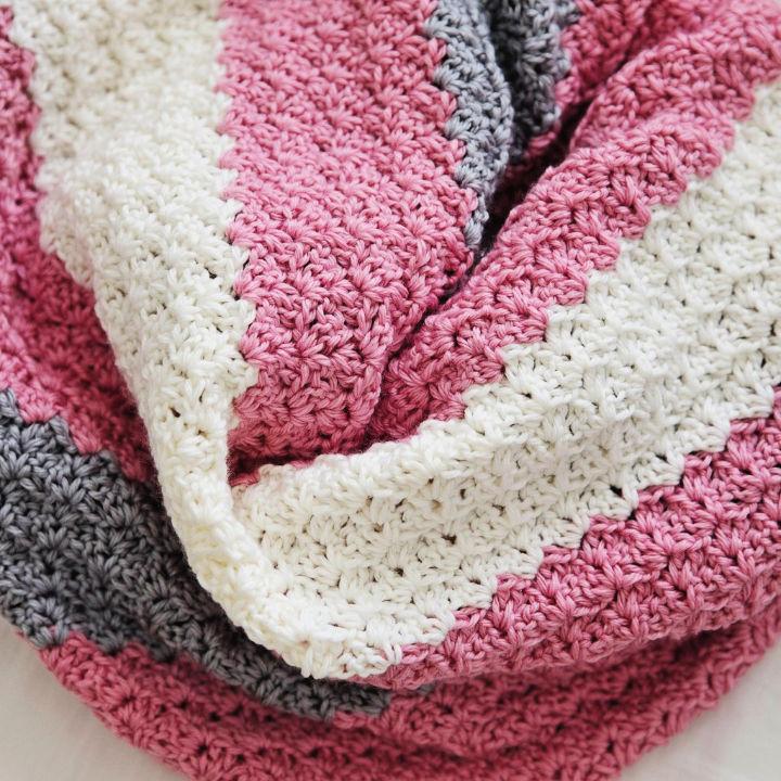 Crochet Baby Blanket Size