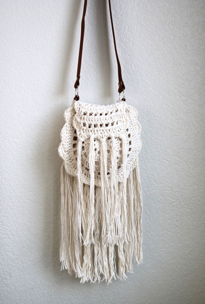 Crochet Boho Tassel Bag Pattern