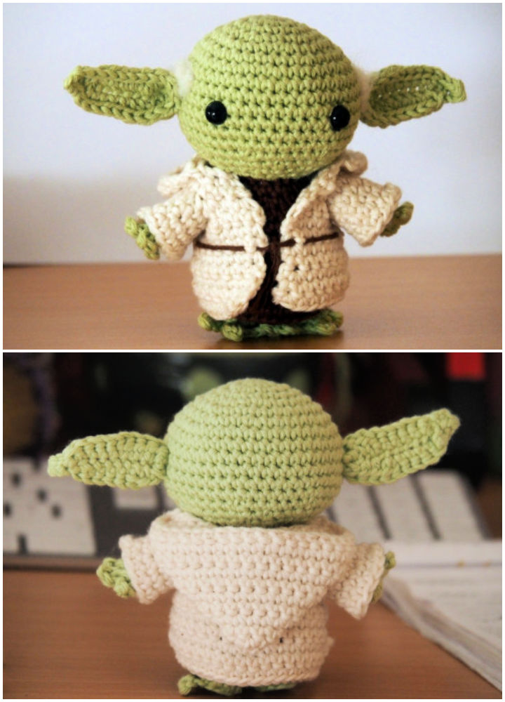 Free Crochet Pattern For Baby Yoda Doll | 1000x720
