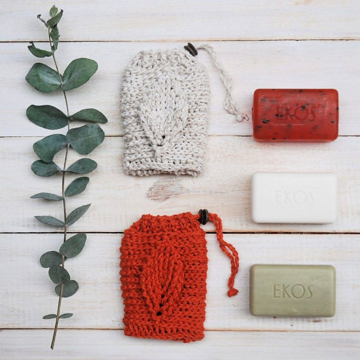 Crochet Leaf Soap Saver