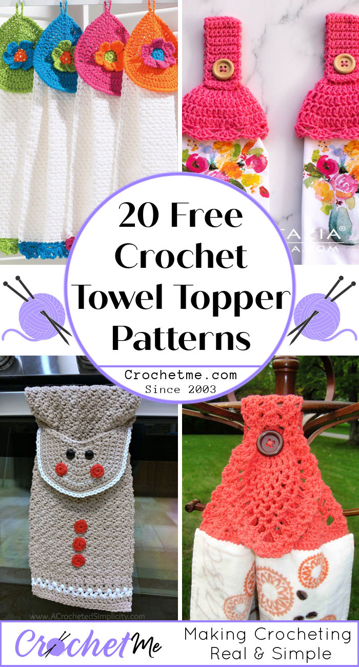 Two Sided Crocheted Top Flour Sack Just Roll With It Dish Hanging Towel